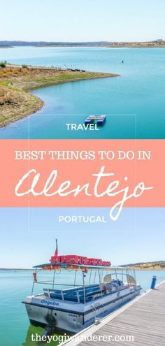 The best destinations in Alentejo central region for your Portugal travel itinerary, including the rich architecture of Évora, the stunning landscape of the Alqueva Lake, the beautiful Monsaraz Castle, the lovely Amieira Beach, and the impressive Herdade do Esporão on the Alentejo wine route. #Alentejo #Portugal #travel
