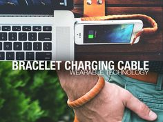 A charging cable that is always at an arm's length. Hand made from quality leather, for your iPhone or Android device.