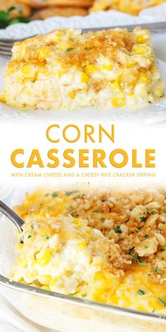 Cream Corn Casserole with Cream Cheese - The Anthony Kitchen