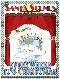 Everywhere, It's Christmas! Christmas Plays For Kids, Christmas Drama, Christmas Music, Huron Carol, Nativity Characters, Christmas Program, Silent Night, Kids Playing, Merry