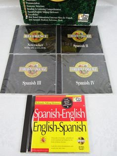 Learn Spanish Interactive CD-ROM Tutor Pro One Sofsource Language Educational