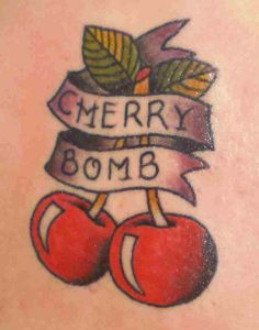 Cherry Bomb Tattoo to commemorate paying off my first car that I paid for by myself.no help from anyone Rockabilly Tattoos, Retro Tattoos, Trendy Tattoos, Love Tattoos, New Tattoos, Girl Tattoos, Tatoos, Hot Rod Tattoo, Tattoo You