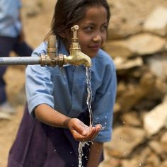Clean water is improving the health of school children in Nepal.