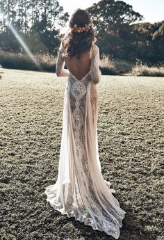 Browse our stunning wedding dresses now. Grace Loves Lace artfully crafts wedding gown designs using the finest European laces & silks for a new generation of bride. Bohemian Wedding Dresses, Boho Dress, Bridal Dresses, Lace Dress, Maxi Dresses, Boho Wedding Dress Backless, Bobo Wedding Dress, Fashion Dresses, Beach Wedding Gowns