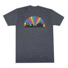 Denver Skyline Rainbow Men's T-Shirt