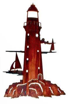 Lighthouse Beyond the Horizon Metal Wall Art