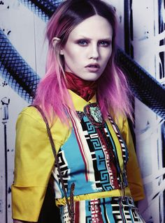 Sasha Pivovarova by Craig McDean for Interview March 2011 Photo. LOVE all the colors...especially her hair!