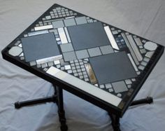 Bespoke Mosaic Tile Coffee Table With Metal Legs By Vjlzlab