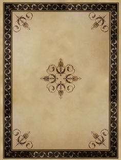 Palazzo Scroll Border Ceiling pattern Stencils