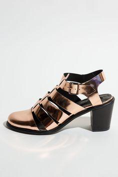 Koshka - Miista 'Lynn' Rose Gold Sandals