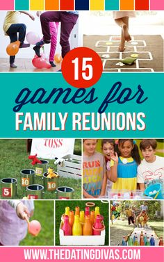 Unique Family Reunion Activities I can't wait for our next family reunion - these games look like so much fun! I can't wait for our next family reunion - these games look like so much fun! Reunion Ideas, Family Reunion Activities, Family Reunions, Planning A Family Reunion, Fun Activities, Family Reunion Food, Family Reunion Shirts, Family Picnic Games, Family Fun Games
