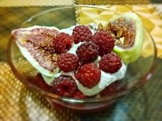 Heavenly Cream with Figs- A Dessert For Those That Don't Have Time To Cook
