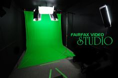 Another example of how portable equipment can be made to look more like a permanent solution. Definitely a great, lower budget option for a permanent green screen studio.