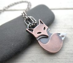 Rustic Fox Pendant by Lost Sparrow Jewelry