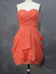 short bridesmaid dress chiffon bridesmaid dress by sposadress, $89.00