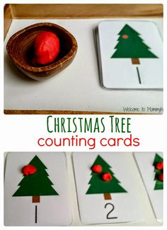 Christmas Activities For Kids: Counting cards and Montessori Inspired Activities {Welcome to Mommyhood} #ChristmasActivitiesForKids,…