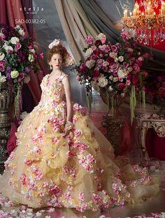 Stella de Libero, gown, couture, wedding, bridal, dress, fantasy, flowers, flower, floral, flora, fairytale, fashion, designer