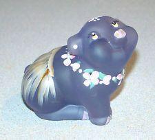 Fenton Shelley's Keepsake Violet Satin Hula Pig Figurine Limited Edition