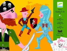 Djeco ~Puppets Cowboy Activities For Girls, Games For Kids, Crafts For Kids, Little Einsteins Party, Toy Theatre, Theater, Origami And Kirigami, Balloon Delivery, Love Illustration