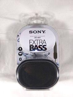 Sony Extra Bass Portable Bluetooth Wireless Speaker Blue Brand New Wireless Speakers, Bluetooth, Bass, Sony, Behance, Electronics, Water, Gripe Water, Flat