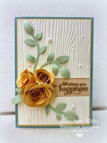 Stampin up Whitehouse Stamping Amy White Blessed by God (sentiment), spiral flower die & flower frenzy die Wedding Cards Handmade, Handmade Birthday Cards, Cool Cards, Diy Cards, Flower Cards, Paper Flowers, Stampinup, Making Greeting Cards, Wedding Anniversary Cards