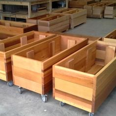 future-environment-mobile-timber-planter-boxes - All About Gardens Balcony Planters, Garden Planter Boxes, Wood Planter Box, Wooden Planters, Diy Planters, Vegetable Planter Boxes, Bamboo Planter, Garden Container, Wooden Garden Furniture