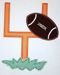 Football Goal Applique - 3 Sizes! | Football | Machine Embroidery Designs | SWAKembroidery.com Applique Cafe