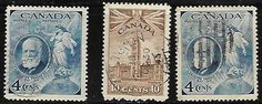 1947 CANADA SC#274 ALEXANDER GRAHAM BELL lot of 3 stamps mix used