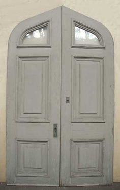 Pair of large Tudor style double doors with wavy glassPurchase