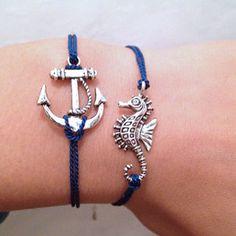 anchor & seahorse :)