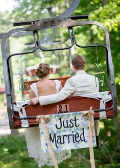 How I want my wedding picture! And the number on the back of the chair is my favorite #