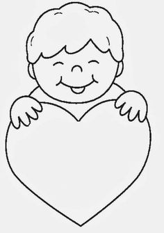 Family Coloring Pages, Flower Coloring Pages, Toddler Class, Cute Disney Drawings, Mothers Day Crafts For Kids, Valentines Art, Mom Day, Bible Crafts, Mother And Father