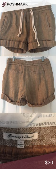Madewell Gold Shorts Fully Lined Gold shorts with button and drawstring. Fully lined. Size 4. Madewell Shorts