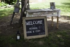Entrance to the ceremony/guest book