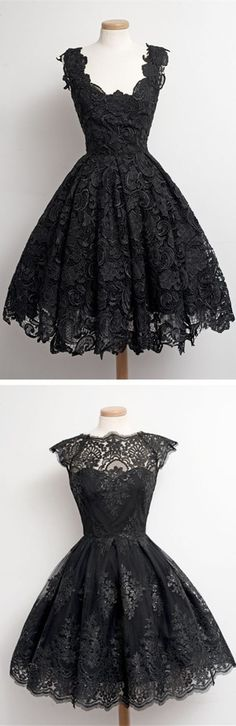 1950s Vintage Little Black Lace Prom Dresses,lace Homecoming Dresses,black Party Dress,vintage dresses, the Little Black dresses,1950s dresses,1940s dresses, short homecoming dresses,short prom dresses