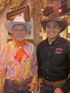 Nick Garcia hanging out with Buck Taylor at the 2014 Houston Livestock Show & Rodeo!!