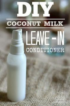 Coconut is the Swiss Army Knife of beauty products. Its oil can be used to make all kinds of things including this great leave-in conditioner! - Shampoo - Ideas of Shampoo Hair Growth Shampoo, Dry Shampoo, Coconut Milk For Hair, Coconut Oil, Coconut Milk Uses, Coconut Milk Shampoo, Hair Removal For Men, Lotion Bars, Diy Lotion