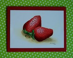Strawberry Notecards printed from Watercolor Painting
