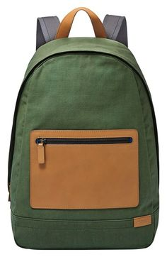 Skagen+'Kroyer'+Canvas+&+Leather+Backpack+available+at+#Nordstrom