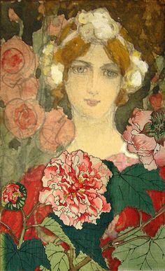 Untitled piece by French Artist Elisabeth Sonrel (1874-1953)