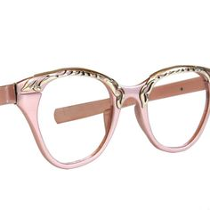 Vintage Glasses -- Buying These! Gold Pink Cat Eye Glasses by Tura by momandpopsvintage on Etsy, $48.00