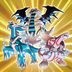 Pokemon X Y news shiny dialga palkia giratina