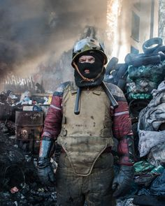 Portrait of Maidan 's fighters. Vitali. 30 years old. Mechanic in the area of Kyiv.  Kyiv. Ukraine.  jan 30th 2014.