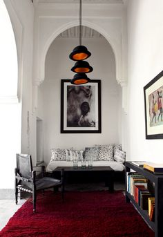 moroccan influenced living room