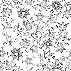 """Stoffmuster """"Doodle Flowers"""" von SaNe-Stücke"""