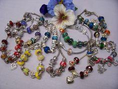 EUROPEAN BEADED CHARM BRACELET LOT #Jewelry #Deal #Fashion