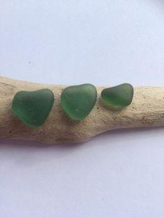 Three Rare Teal Scottish Sea Glass Hearts SG by ScottishShores