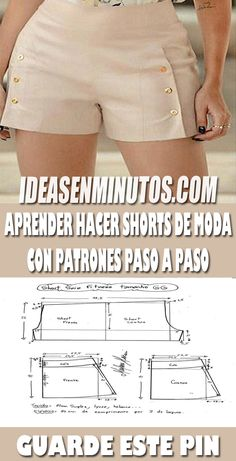 Source by hurtadoparedes ideas shorts Sewing Shorts, Sewing Clothes, Diy Clothes, Easy Sewing Patterns, Clothing Patterns, Como Fazer Short, Costura Fashion, Tailoring Techniques, Pants For Women