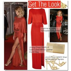 Rosie Huntington-Whiteley-GET THE LOOK by andjela19951 on Polyvore featuring Cushnie Et Ochs and Jimmy Choo