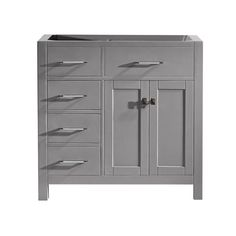 Virtu USA Caroline Parkway 36 in. W x 22 in. D Vanity Cabinet Only in Cashmere Grey